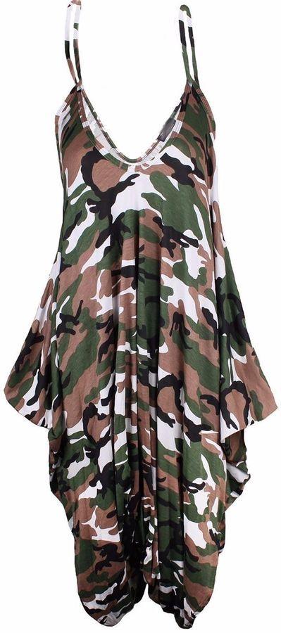 57a8131cc57 New Ladies Cami Lagenlook Romper Baggy Harem Jumpsuit Playsuit Dress Plus  Size Romper Baggy Lagenlook