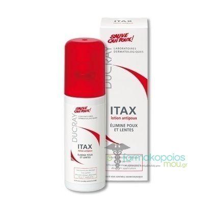 Ducray Itax Anti-head Lice Lotion    Εξοντώνει τις ψείρες και τις κόνιδες .    Φράσσει τις αναπνευστικές οδούς της ψείρας και της κόνιδας, δημιουργώντας ένα φιλμ γύρω από τα παράσιτα που τα εμποδίζει να αναπνέου...