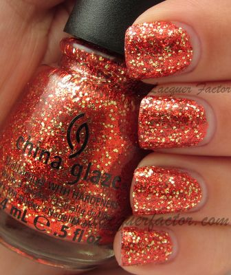 Pure Joy   Red and gold glitter in a clear base