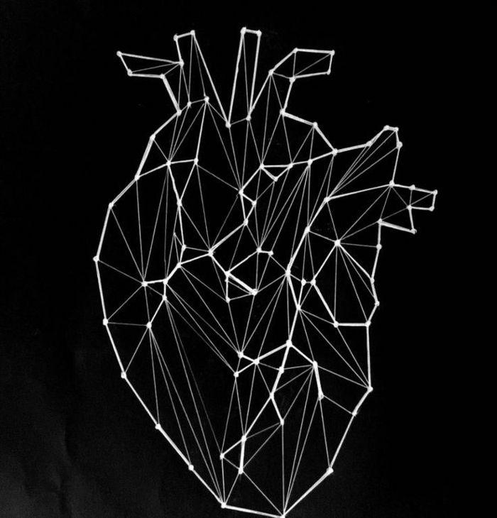 1001 Images Du Dessin Geometrique Magnifique Pour Vous Inspirer Dessin Coeur Coeur Geometrique Fond D Ecran Telephone