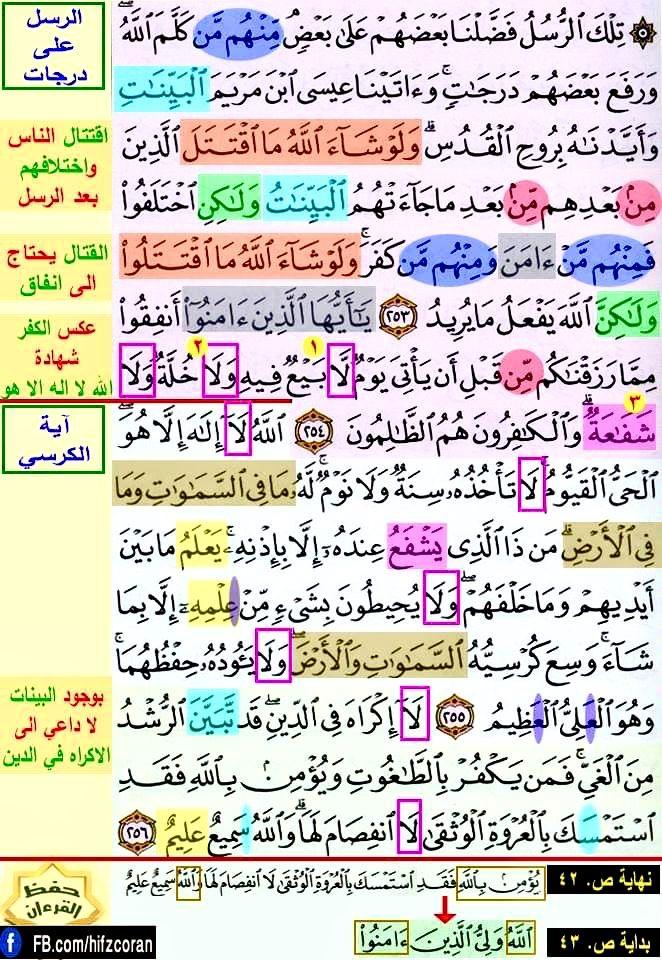 تثبيت حفظ سورة البقرة صفحة ٤٢ In 2021 Quran Verses Quran Verses