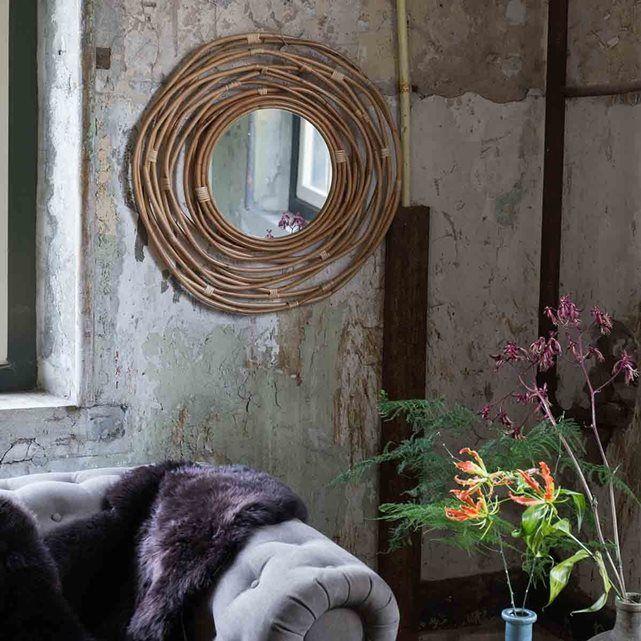 17 meilleures id es propos de miroir en rotin sur for Miroir rotin noir