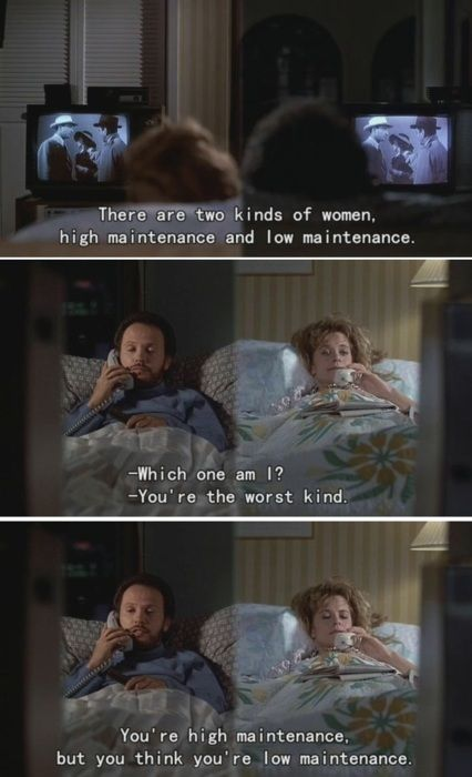"""I am the worst kind, too.  Love """"When Harry Met Sally"""""""