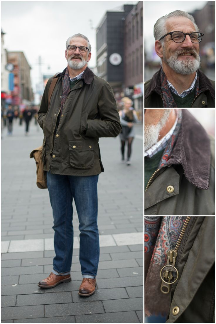 We spotted Simon wearing his Barbour Wax Jacket - the perfect choice for a chilly autumn day!