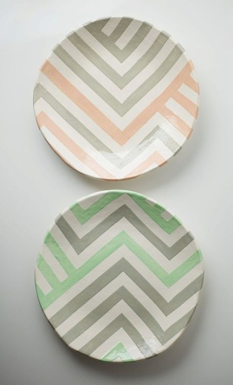 pretty painted plates