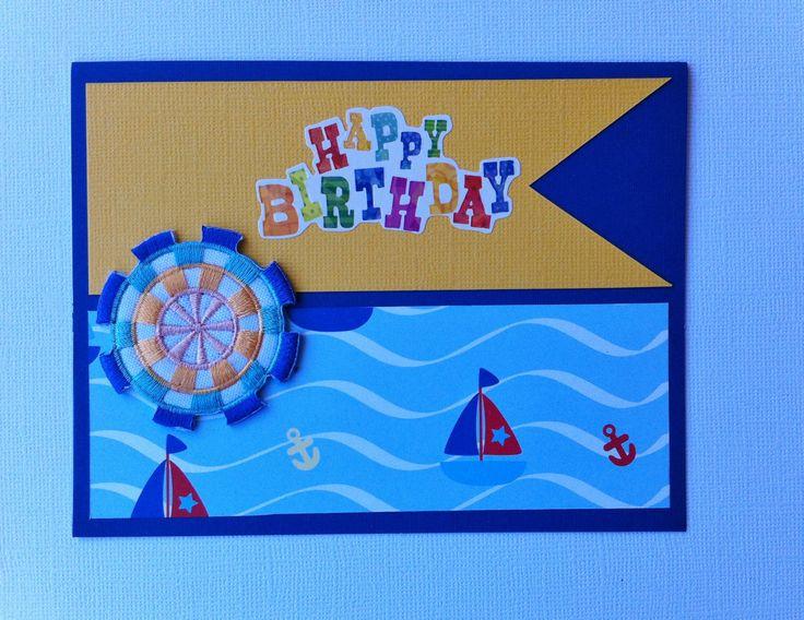 Handmade Birthday Card - Boy Card - Nautical theme - Boats - Handmade by HandmadeByLana on Etsy