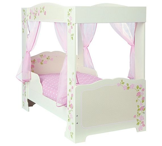 Buy HOME Rose 4 Poster Toddler Bed Frame - Multicoloured at Argos.co.uk - Your Online Shop for Children's beds, Children's furniture, Home and garden.