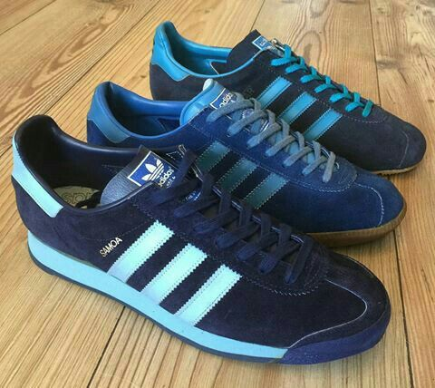 From the front, Adidas Samoa (made in Japan), Montreal (made in