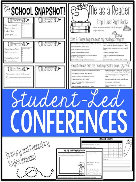 When you realize conferences are a month away do you begin to sweat? It happens to me every year. School feels like it has just started, and we barely begin to get into our groove when I look to see what's ahead on the calendar and there it is, looming. That all changed this past school year. I was tired of dreading something that I
