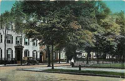 Schenectady New York NY 1913 Church Street Residences Antique Vintage Postcard