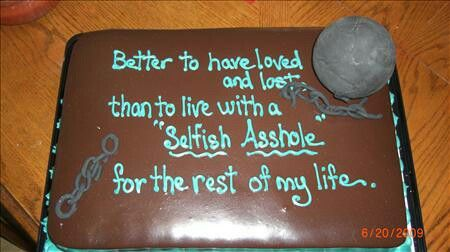 My cake for my divorce party