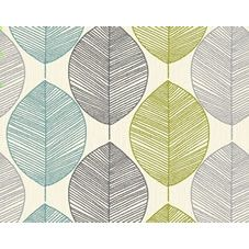 This retro leaf wallpaper brings the fabulous 70s retro feel to the home. In several colourways, this stunning design is great as a feature wall, or will look equally as great on all four walls, dependant on your colour scheme.<BR><BR> Design Match: Straight match<BR> Design Repeat: 53cm<BR>Roll length: 10.05m <BR> Roll width: 53cm<BR><BR>Co-ordinates perfectly with Wilko paint. We love Crushed Almond and Dark Duck Egg.
