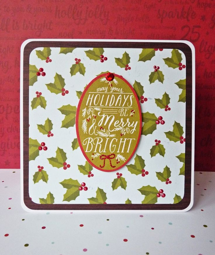 may your holidays be merry and bright card || shimelle christmas magic & pink paislee merry and bright
