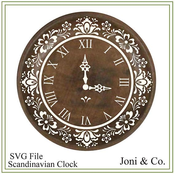 Scandinavian Clock SVG File, Swedish, Nordic svg, SVG file, vinyl cutting, printable, Clock craft ,Garden, Kitchen, Folk Art Clock design Welcome, Thank you for visiting the shop and having a look at the original artwork offered here. This is an instant download of a SVG file to be used for cutting vinyl among many other uses. WHAT YOU WILL RECEIVE Your svg file will be in a zip folder for download. A download link will be emailed to you just a few minutes after your purchase. You will al...