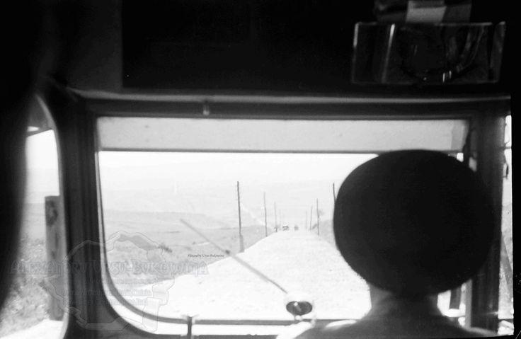 B58.Cernauti.Der Schlagbaum vor Cernowitz aus dem Autobus.24. Juli 1941.Fotograf Willy Pragher .
