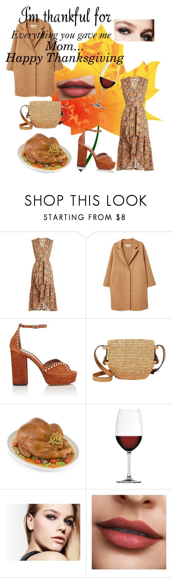 """""""Happy Thanksgiving"""" by naepoppo on Polyvore featuring Rebecca Taylor, MANGO, Tabitha Simmons, Khokho, Nachtmann, orange and thanksgiving"""