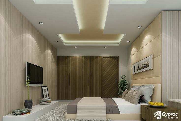 Give your bedroom a new air of sophistication and class with this beautiful Gyproc India #falseceiling design! Visit www.gyproc.in