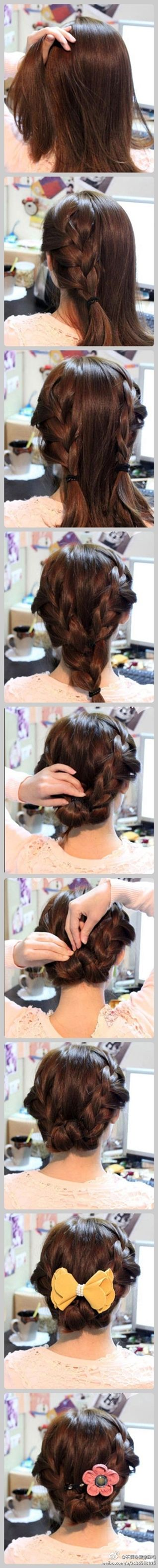 two braids updo