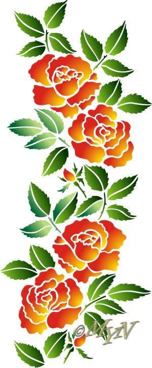 .rose stencil