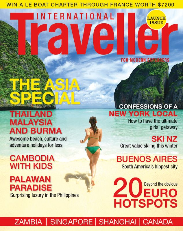 Issue 1 of International Traveller magazine, featuring the best of skiing in NZ.