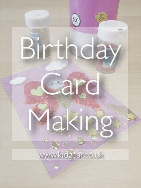 Making Birthday Cards With Children