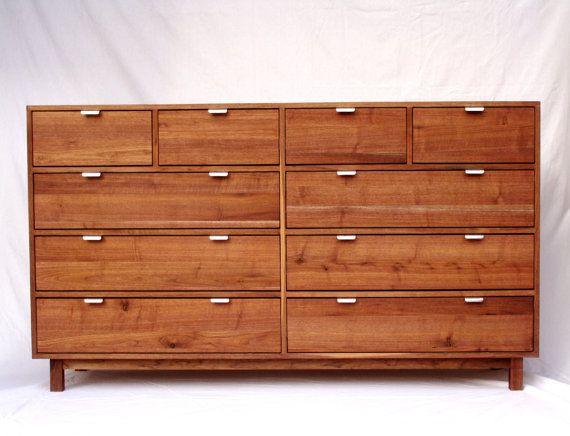 Midcentury Modern Walnut Dresser by CustomTimberHF on Etsy