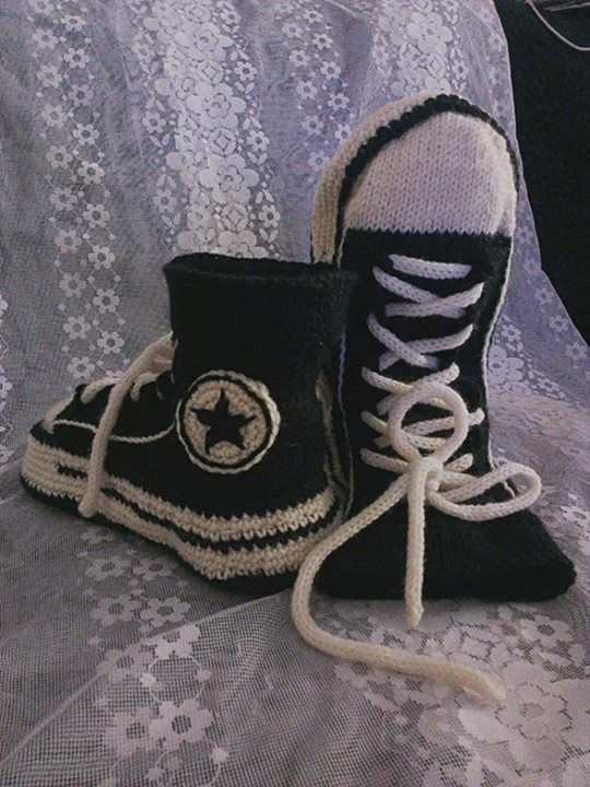 knitted converse