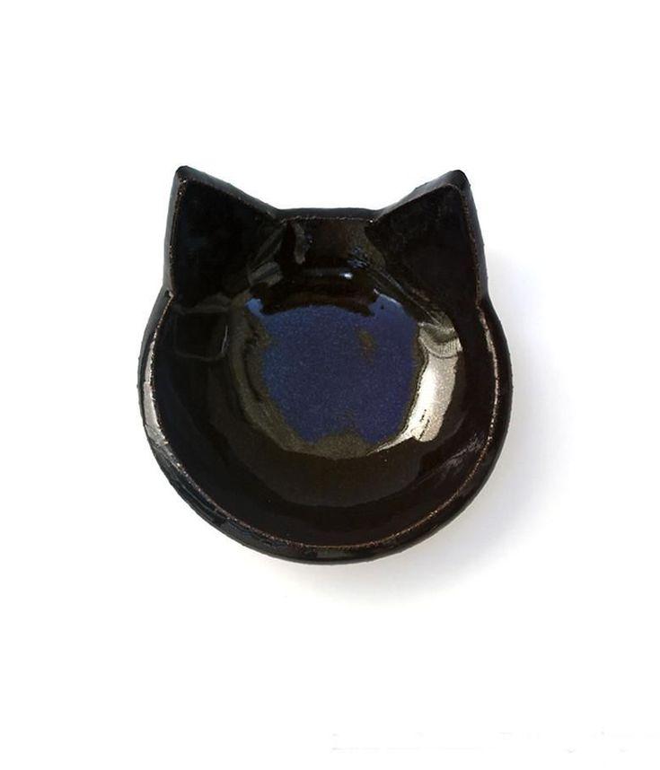 Black Cat Bowl - Cat Food Bowl, Candy Dish #catfood