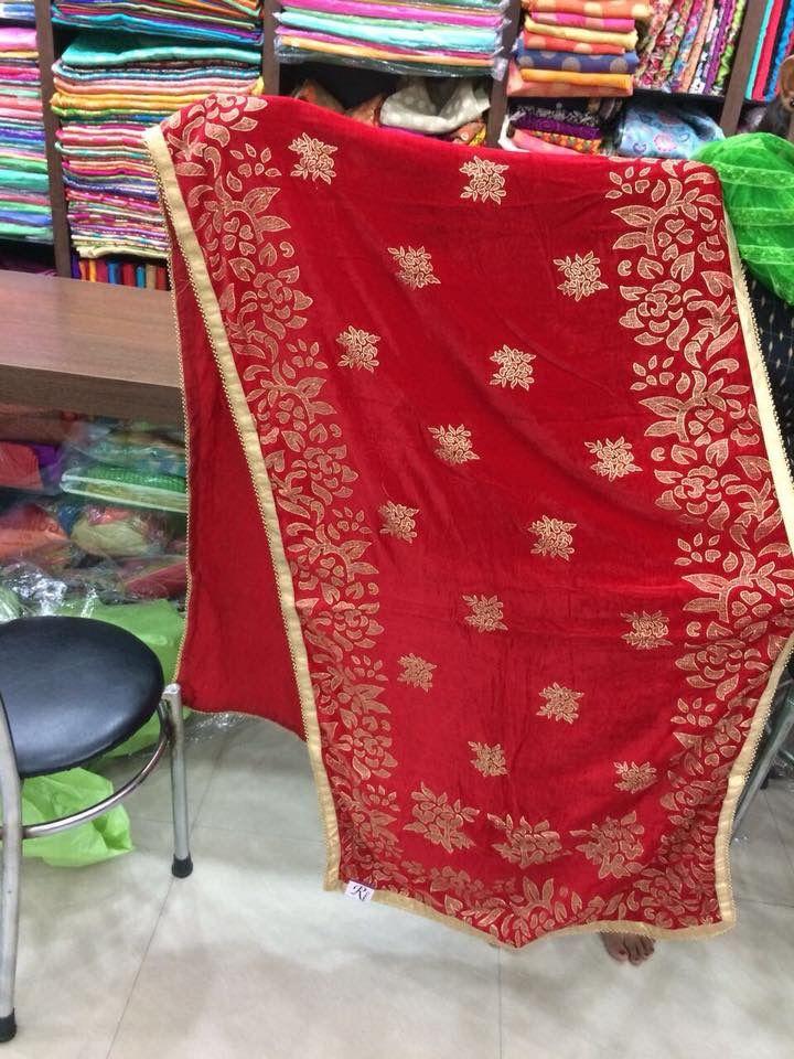 Dupatta style for punjabi suits