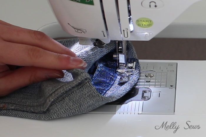 Step 3 - How to Hem Jeans - Use this method to keep the original hem and the wear and distress on it - Melly Sews