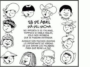 Language Day coloring 300x225 Language Day