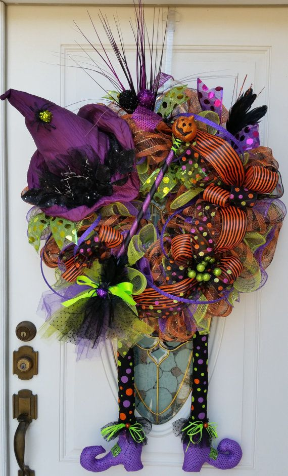 Etsy Halloween Decorations 30 best halloween weaths images on pinterest | halloween mesh