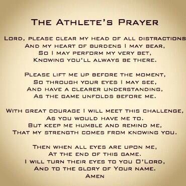 An Athlete's Prayer.