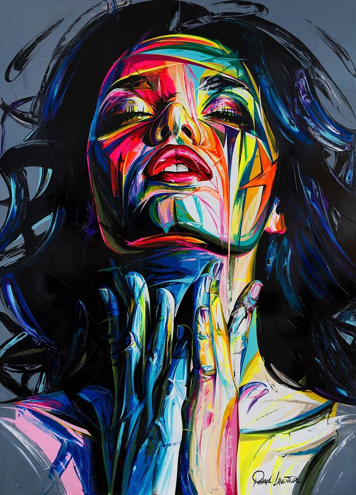 Face Oil Painting Francoise Nielly Style Palette Portrait Canvas Impasto Wall Art Pictures Home