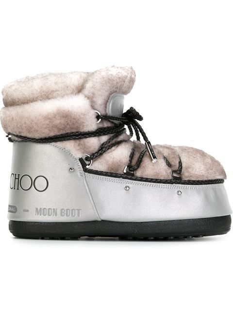 JIMMY CHOO Jimmy Choo X Moon Boot Lace-Up Boots. #jimmychoo #shoes #flats