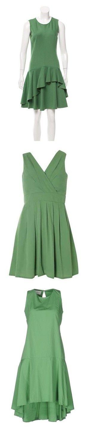 """Dark Mint Green Dresses"" by tegan-b-riley on Polyvore featuring dresses, green, sleeveless dress, flouncy dress, scoop neck dress, scoop neck cocktail dress, flutter-sleeve dress, green color dress, tenki and green chiffon dress"