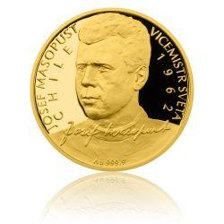 Zlatá čtvrtuncová mince 10 NZD Josef Masopust proof