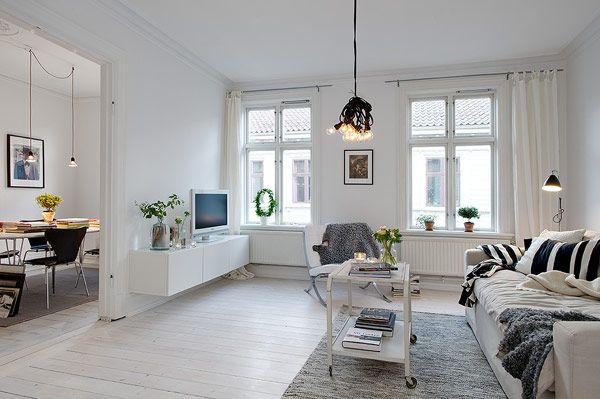 Elegant and cozy Scandinavian apartment