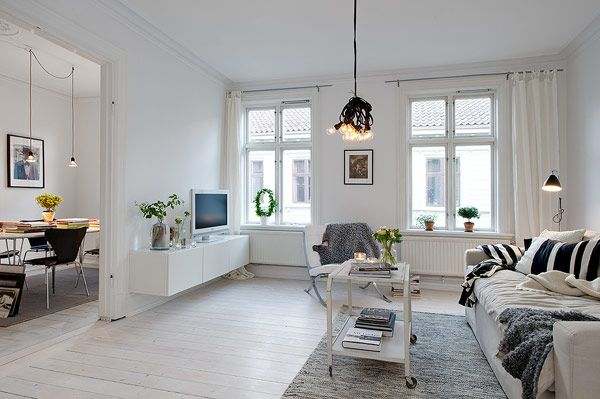 Elegant and cozy Scandinavian apartment