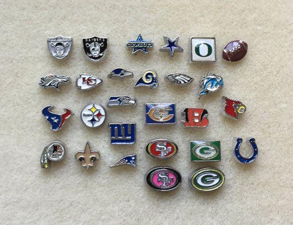 Floating Charms NFL Football Raiders Cowboys Chiefs 49ers