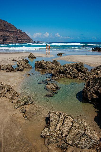 Playa de Atrás, Órzola, Lanzarote, Islas Canarias, Spain