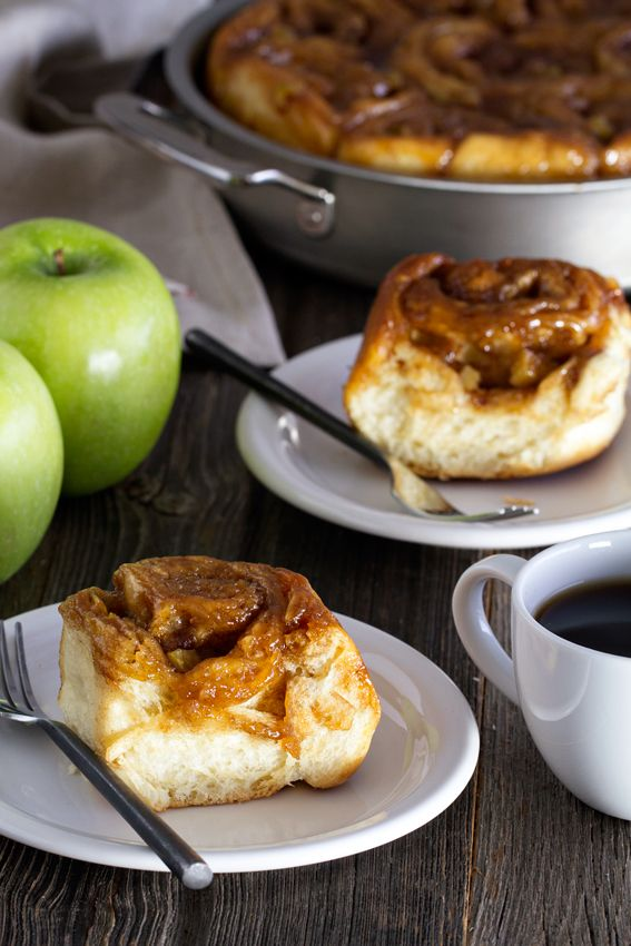 Caramel Apple Cinnamon Rolls have ooey gooey caramel on top and apples throughout. The essence of fall baking.