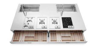 ALPES INOX - Cucine su misura, elettrodomestici ad incasso e freestanding, in acciaio inox