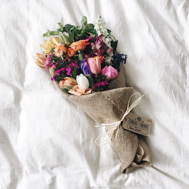 #Blumenstrauß: Passend für die Vintage-Hochzeit oder Landhochzeit - im Jute-Sack