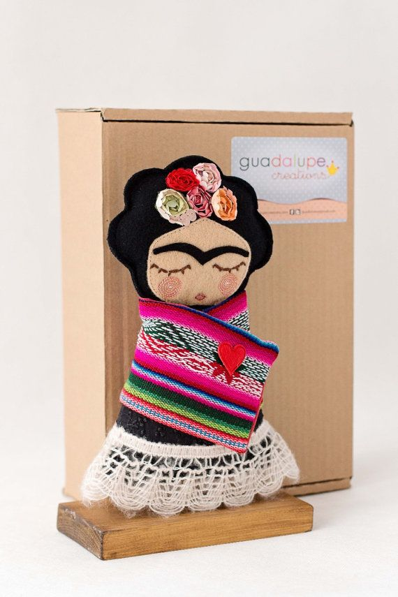 Frida Kahlo Art Doll by Guadalupecreations on Etsy