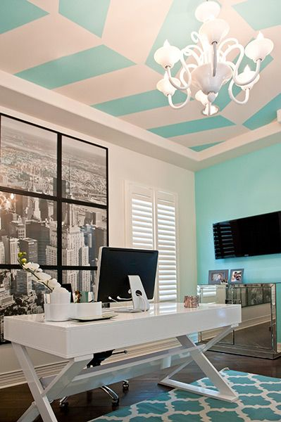 tiffany blue office - Tiffany Blue Room Decor