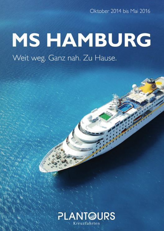 PLANTOURS Kreuzfahrten Katalog MS HAMBURG