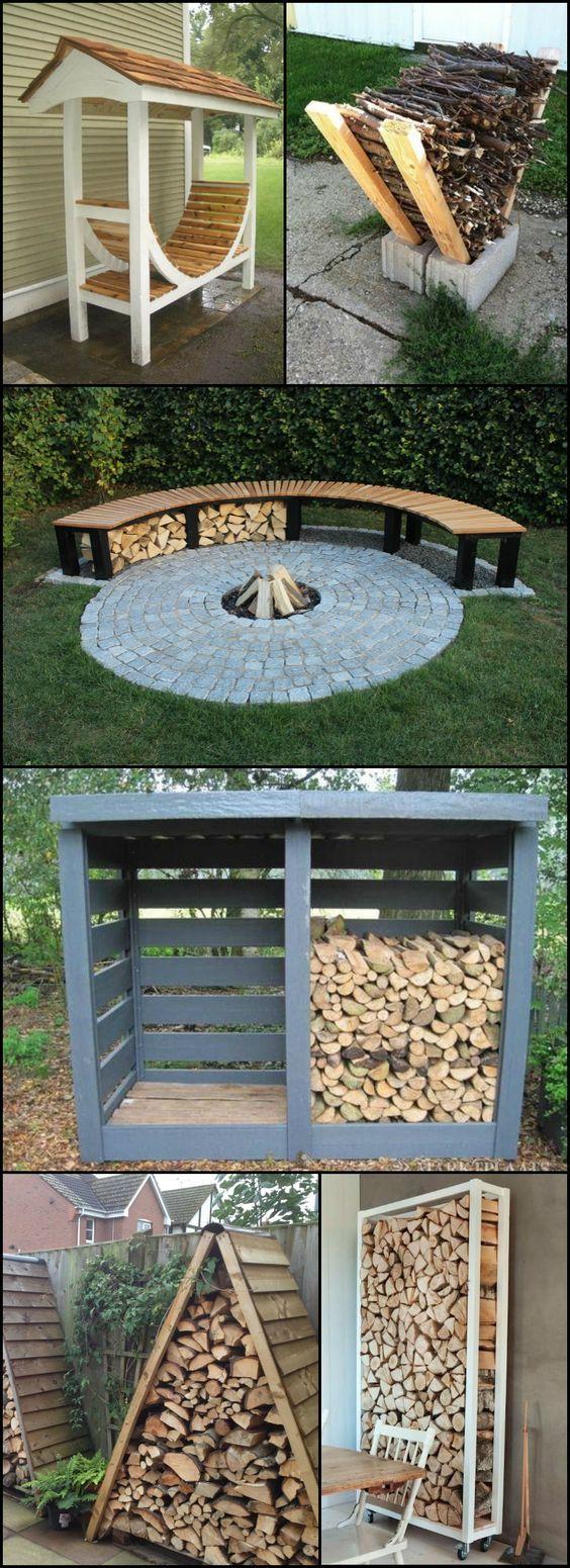 Firewood Storage Feuerholz Holz Unterstand
