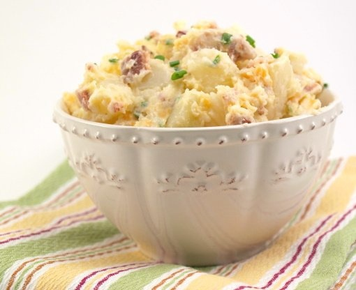 Baked Potato Salad (no eggs or mustard in this potato salad)