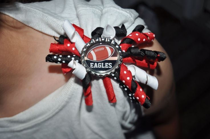 Personalized Custom Football Sleeve Scrunchies--youth or adult--- You choose colors--football mom--football team. $8.50, via Etsy.